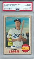2017 Topps Heritage Corey Seager Los Angeles Dodgers PSA 10 GEM MINT
