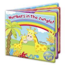 First Steps Baby Bade Buch Zahlen Im Dschungel! Bathtime Spaß 6m + Spielzeug