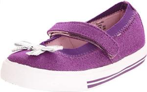 Keds Girls Illume Mary Jane Shoes Purple Bow Toddler US Size 5.5