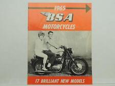 Vintage 1965 BSA Motorcycles Brochure Lightning Thunderbolt Rocket Twin L9982