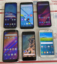 Lot of 6 Google Pixel ,Motorola ,Samsung ,blu Unlocked Smartphone