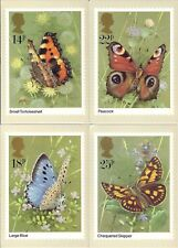 GB 1981 PHQ Cards Mint Set~Butterflies~(4)~PHQ-51~UK Seller