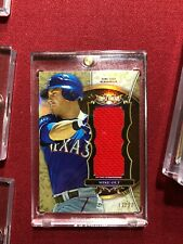 MIKE OLT 2013 TOPPS TRIPLE THREADS GAME USED JERSEY RELIC #/27 TEXAS RANGERS