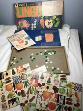 Vintage Unicef Lingo Colorforms Game Nutrition Food Words Learning Bingo Game