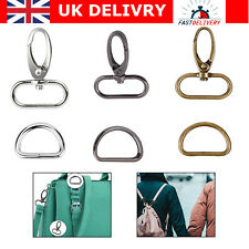 20pcs Swivel Snap Hook and D Ring Buckles for Fasteners Strap Bag Accessories