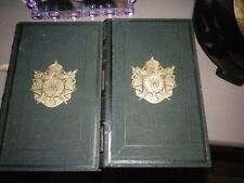 2 LIVRE AUX ARMES DE NAPOLEON III BLASON HERALDIQUE BIBLIOTHEQUE DE NAPOLEON N°3