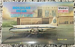 "DOUGLAS DC-6B ""LEGENDS OF AVIATION"" MINICRAFT 1/144 MODEL KIT 14442 - COMPLETE"