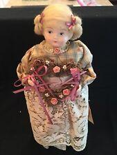 Handcrafted Doll Christel California Ooak Bisque Cloth 14� Victorian Valentine