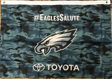 Philadelphia Eagles Salute to Service Veterans Day Camo Flag NFL Decor 3X2 Feet