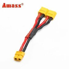 Amass XT60 Parallel Connector 1 Female 2 Male with 7CM 16AWG Cable