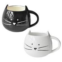 Kaffeetasse er Katzen Tiermilch Schalen keramischer Liebhaber Becher Nettes U6F2