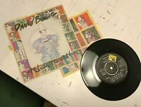 "David Bowie Ashes To Ashes 45 7"" Vinyl Single BOW 6 w/ 9 Stamps andy warhol '80"