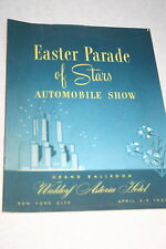 EASTER PARADE OF STARS AUTOMOBILE SHOW WALDORF ASTORIA NEW YORK CITY 1953 12 PGS