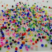 Lot of 2000pcs DIY 11//0 Rocaille 4mm Small Round Glass Seed Beads mix @ami