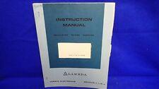 Lambda Lq-521-40692 Instruction Manual