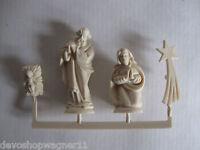 10 Bastel-Set (4teilig), Krippenfiguren, Hl Familie  Kunststoff 4 cm Weihnachten