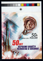 Russia/USSR 2011, Color proof mini sheet Yuri Gagarin (double printing)  MNH OG