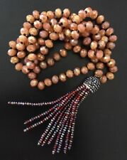 Fashion Bohemian knot tribal Crystal charming crystal Tassel necklace