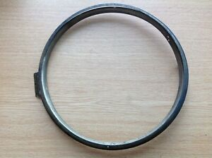"""Antique Wall Dial Clock Brass Bezel & Retaining Ring 10.5"""" Dia Clockmakers Parts"""