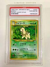 New listing Psa Gem/Mt 10 1998 Pokemon Japanese Neo Beirifu Double White Star
