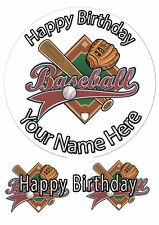 Cake Topper Birthday Baseball personal Rice paper,Icing fondant Sheet.1086
