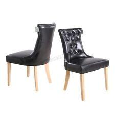 Sillas de color principal negro de piel sintética para el hogar
