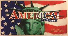 America In A Box board game; pre-owned, G/VGC. Please see Description.