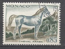 TIMBRE  MONACO OBL N° 837   CHEVEAUX DE SANG CHEVAL ARABE