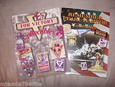 """V FOR VICTORY & REMEMBER PEARL HARBOR COLLECTIBLES"" VALUE PRICE GUIDES!"