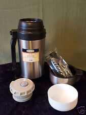 Magellan Double Walled Stainless Steel 40oz Food Mug with Carry Strap