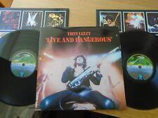 THIN LIZZY LIVE AND DANGEROUS UK 1ST PRESS VINYL LP TOP M- COPY !