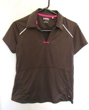 ❤️ Annika by Cutter & Buck Top Brown Golf Fitness Active Athletic Workout Size M