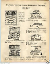 1932 PAPER AD Heddon's Baby Vamp Fishing Lure Jointed Game Fisher Lucky 13