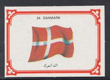 Monty Gum 1980 Flags Cards - Card No 34 - Danmark - Denmark  (T637)