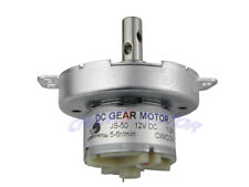JS-50 12V Gear Motor  5RPM CW/CCW Brushed DC Motor With M4 Thread Hole Shaft