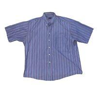 Gitman Bros Vintage Men Button Striped Shirt Size XL Short Sleeve Made In USA