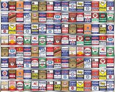 HUGE OIL CAN COLLECTION GAS STATION DISPLAY MURAL BANNER SIGN SHOP ART 8' X 10'