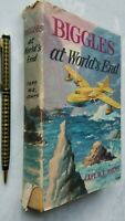 CAPTAIN W E JOHNS BIGGLES AT WORLD'S END 1ST/1 B/CLUB 1959 HB ILLS LESLIE STEAD
