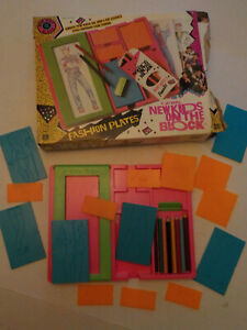 "Original 1990-vintage (Hasbro) ""NEW KIDS On The BLOCK ~ FASHION PLATES"" Toy!"