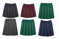 Girls/kids School Uniform Skirt Box Pleated Elasticated waist Skirt Age 2-18year