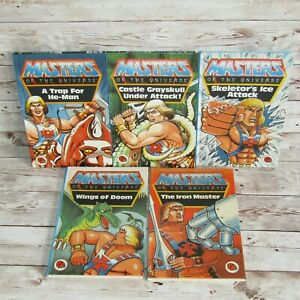 5 x Vintage Masters of the Universe 1st Edition Ladybird Books He-Man Skeletor