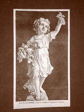 La vendemmia o raccolta dell'uva Statua di Costantino Pandiani del 1879