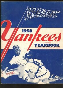 1956 New York Yankees Yearbook 2nd Edition Blue Variation VG cut-out page 33