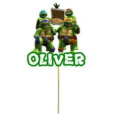 TMNT Ninja Turtles Cake Topper Personalised Kids Birthday Party Decoration Card