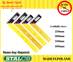 250/300/350/400 Carpenter Working Joiners Try Square Rule Hardened Steel Stalco