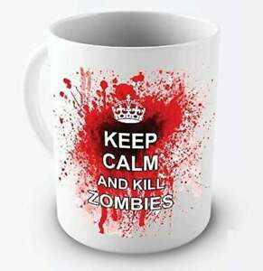 Keep Calm And Kill Zombies Coffee Mug