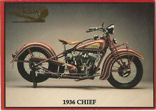 Indian Motorcycle Series II 1992 Promo Trading Card 1936 Chief Card 8