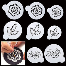 8 Pcs Packed Lots Flower Cookie Cake Stencil Decorate Mould Fondant Biscuit Tool