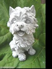 Gostatue westie dog latex w plastic backup mold concrete plaster mould