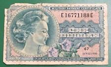 """$1 Military Payment Certificate """"Buffalo"""" Series 692! Rough! Us Mpc Currency!"""